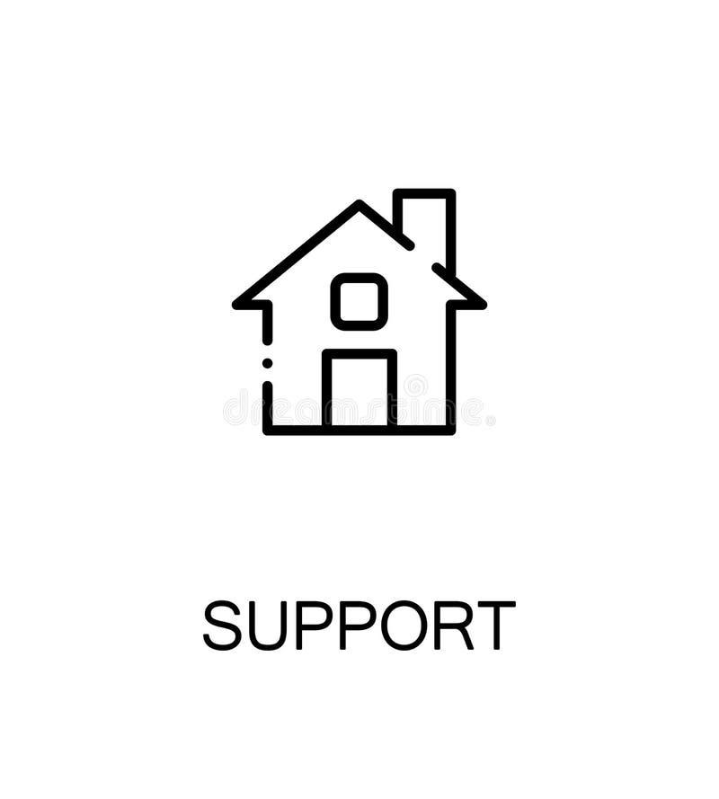 Poparcia i pomocy ikona ilustracji