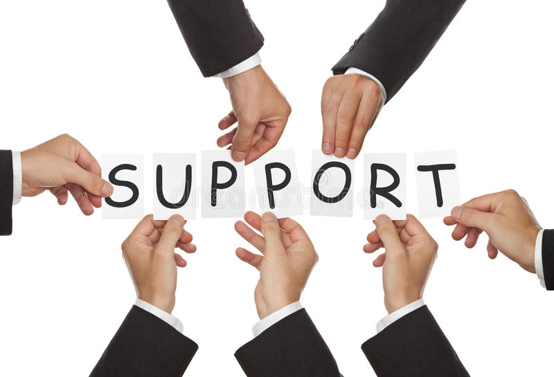 poparcie obraz royalty free