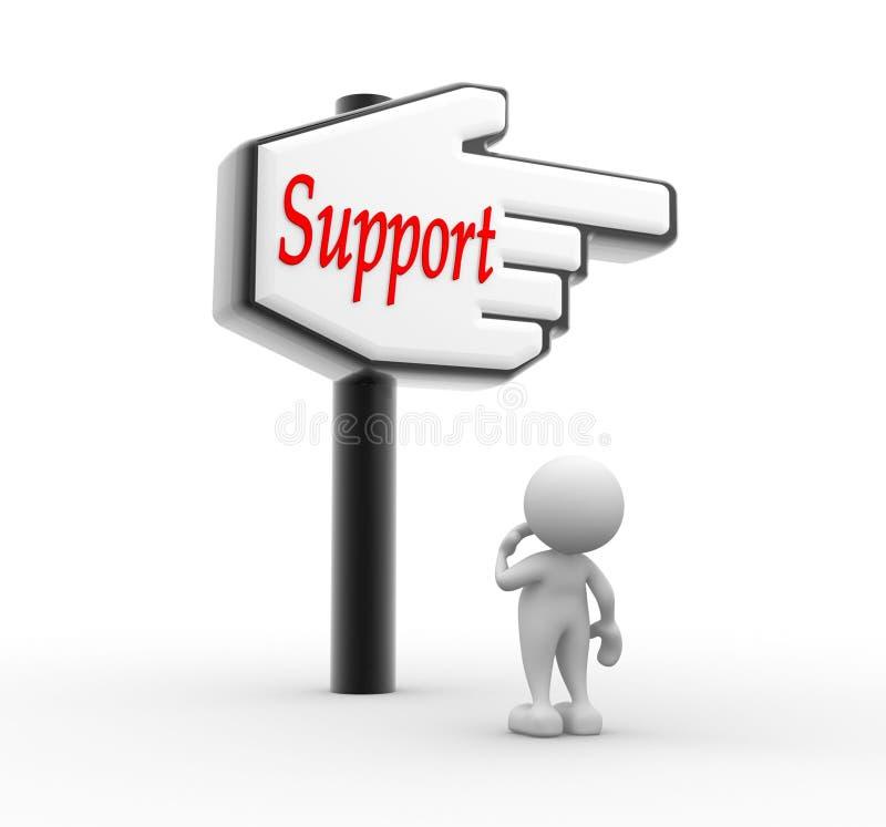 Poparcie ilustracja wektor
