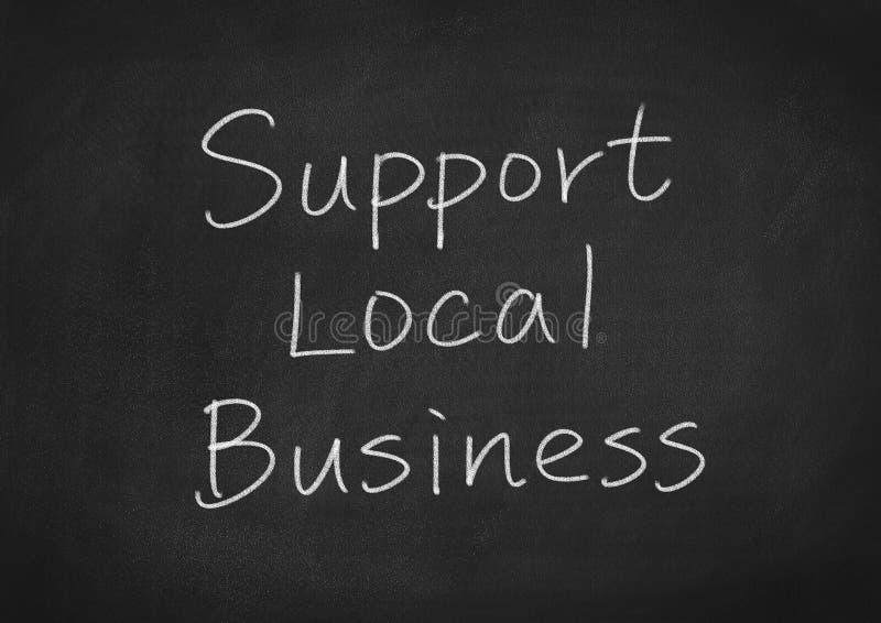 Poparcie miejscowego biznes ilustracja wektor