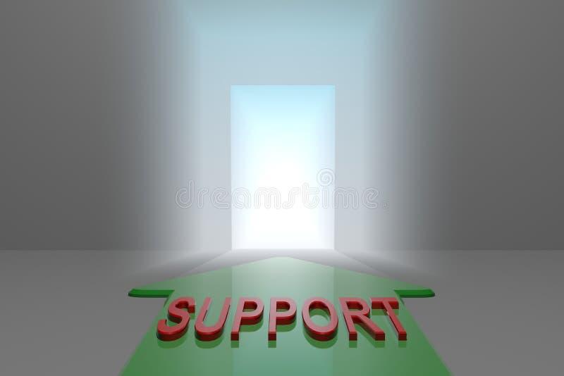 Poparcie otwarta brama royalty ilustracja