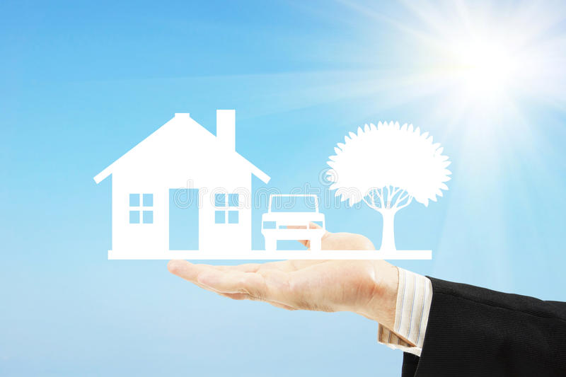 Poparcie własność i nieruchomość Pożyczka i kredytowanie obrazy stock