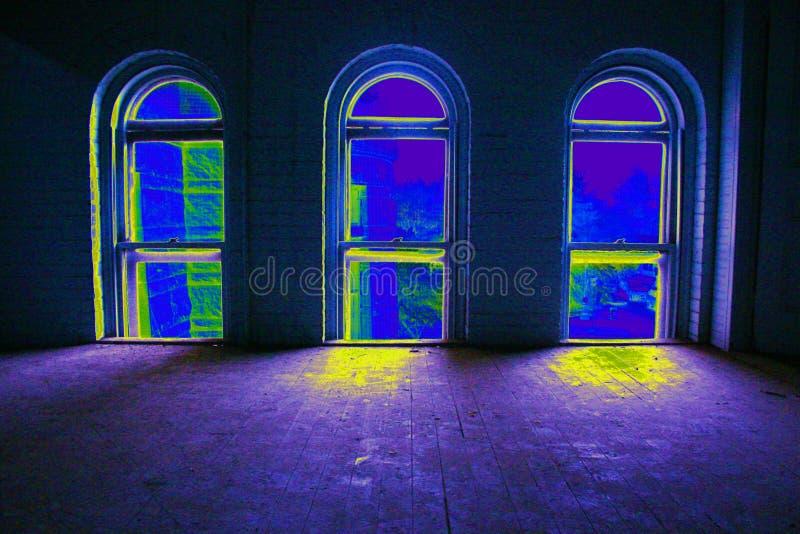 Popart - 3 Windows fotografia stock libera da diritti