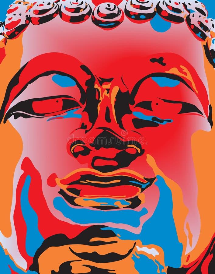 Popart Buddha ilustração do vetor