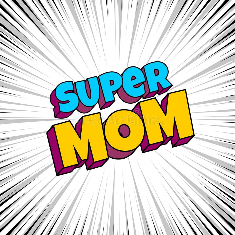 Greeting card for mommy mom mother stock illustration