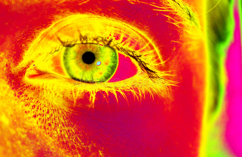 Popart - Eye I royalty free illustration