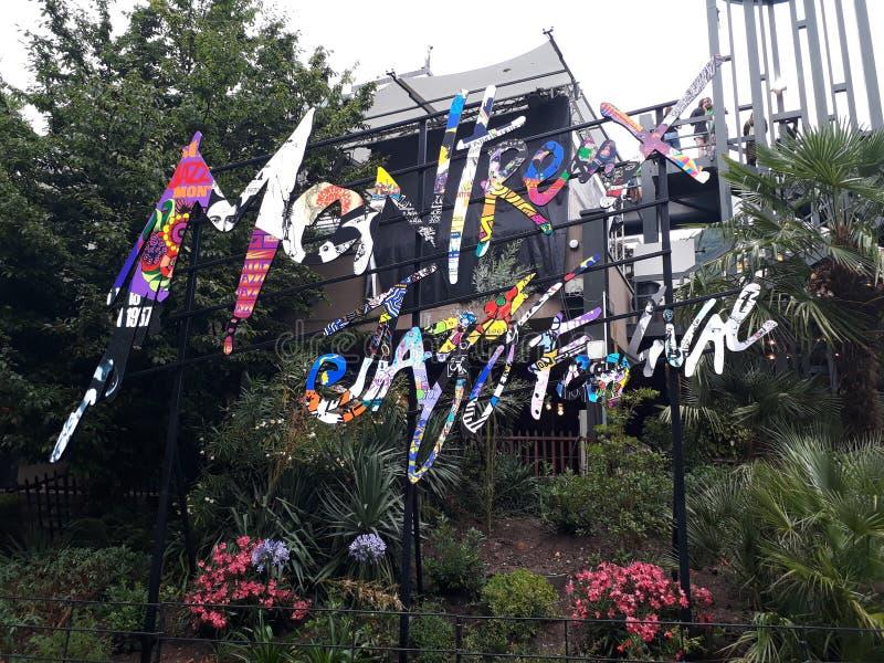 Popart jazzfestival de festival de Montreux image libre de droits