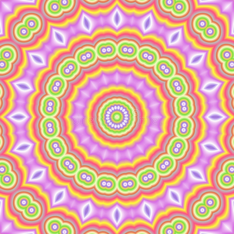 Popart kaleidoscopic ilustração royalty free