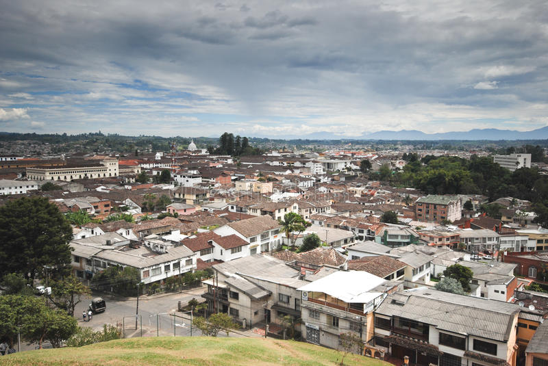 Popayan Colombia. Colonial streets of Popayan,Colombia stock photography