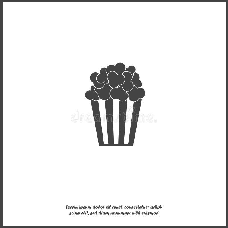 Popcorn διανυσματικό εικονίδιο Κιβώτιο popcorn απομονωμένο στο λευκό υπόβαθρο διανυσματική απεικόνιση