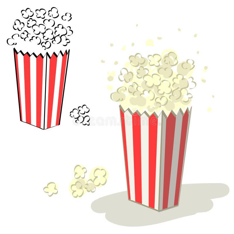 popcorn διάνυσμα ελεύθερη απεικόνιση δικαιώματος