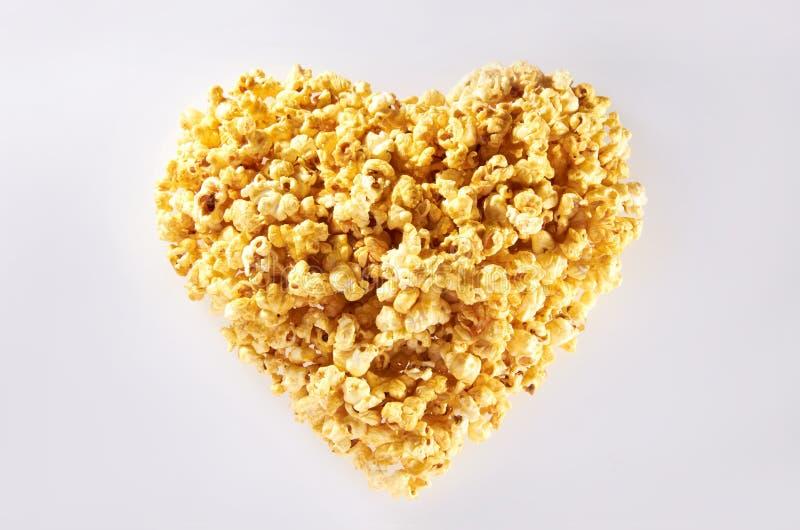 popcorn καρδιών μορφή στοκ φωτογραφία με δικαίωμα ελεύθερης χρήσης