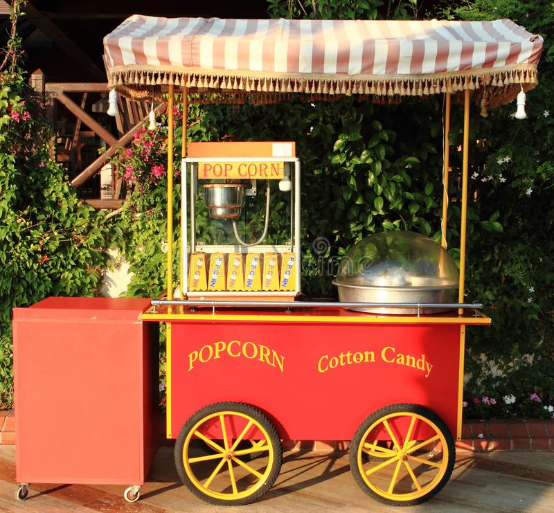 popcorn κατασκευαστών βαμβακ&i στοκ εικόνες