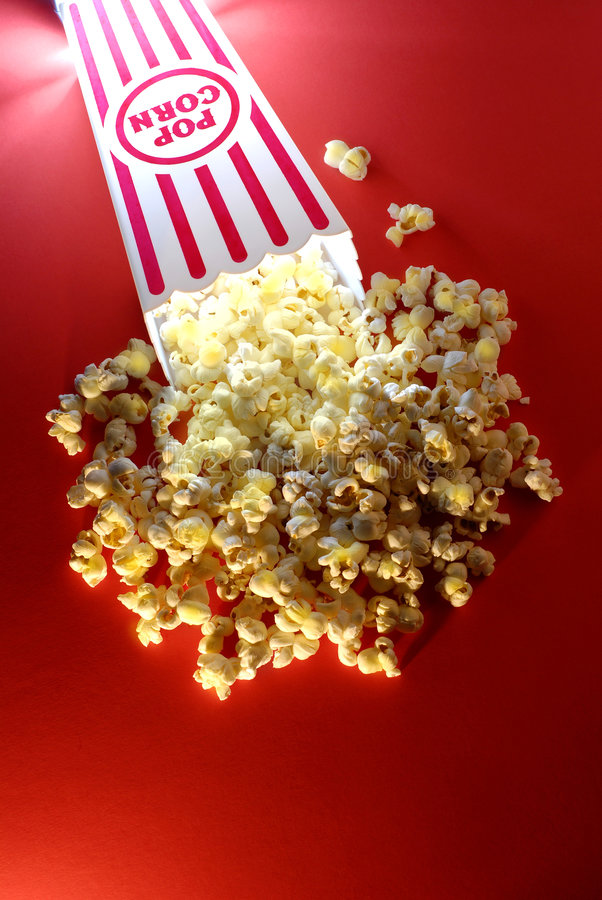 popcorn κινηματογράφων στοκ φωτογραφία με δικαίωμα ελεύθερης χρήσης
