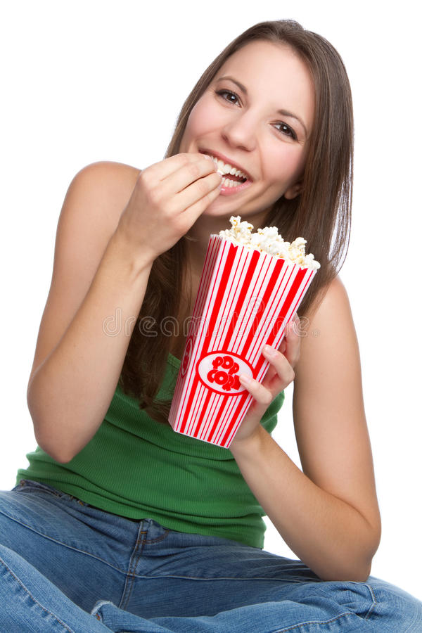 popcorn κοριτσιών στοκ φωτογραφίες με δικαίωμα ελεύθερης χρήσης