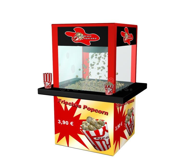 Popcorn μηχανή με το γερμανικό κείμενο απεικόνιση αποθεμάτων