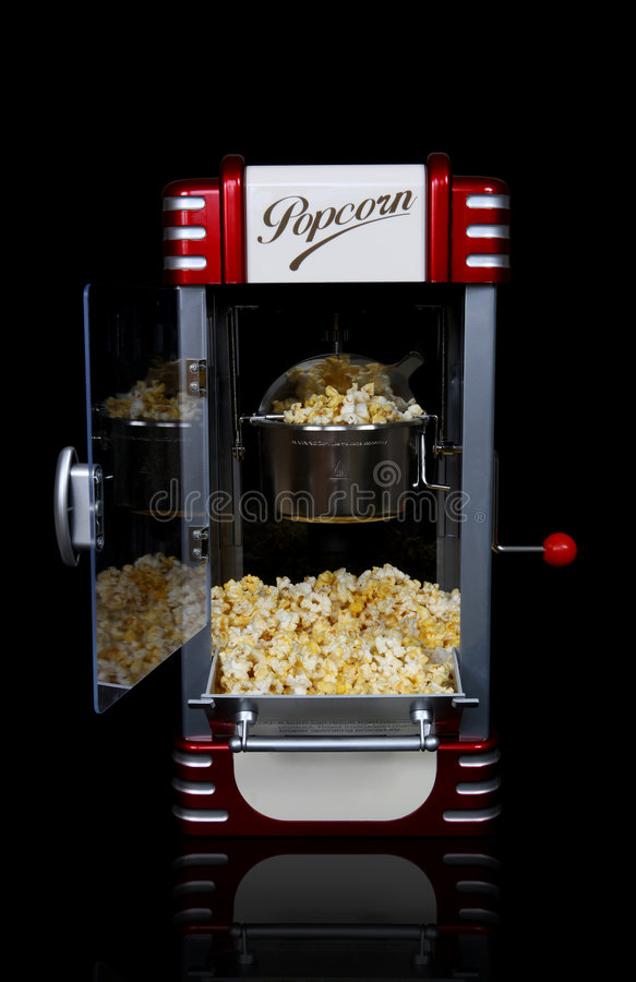 popcorn μηχανών αναδρομικό στοκ εικόνες