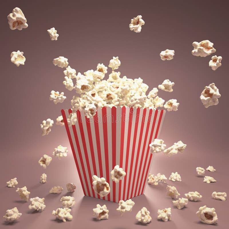 Popcorn πέταγμα διανυσματική απεικόνιση
