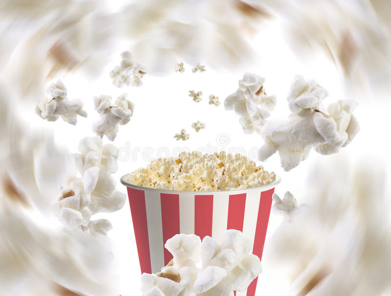Popcorn σκάσιμο στοκ εικόνες