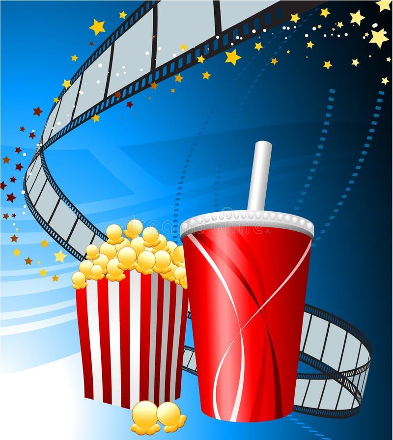 popcorn ταινιών φλυτζανιών ανασκ ελεύθερη απεικόνιση δικαιώματος
