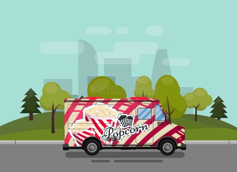 Popcorn φορτηγό ελεύθερη απεικόνιση δικαιώματος