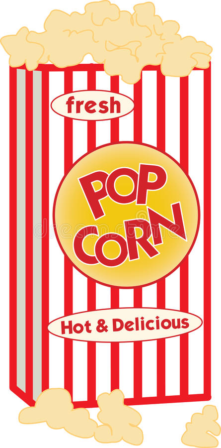 Download PopCorn stock vector. Image of popcorn, show, concession - 13704692
