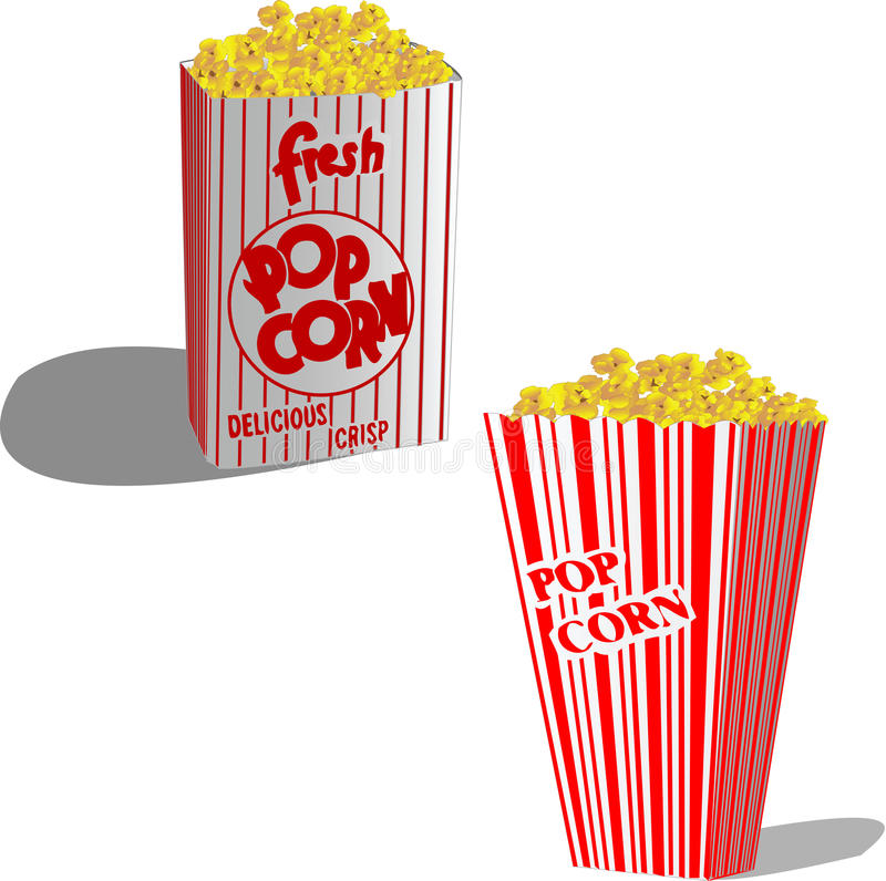 Popcorn stock abbildung