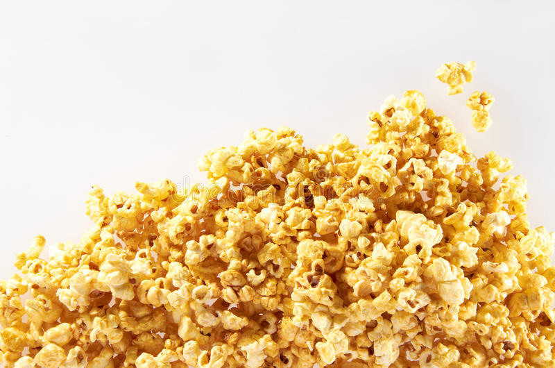 Popcorn. Shot on clean background royalty free stock photo