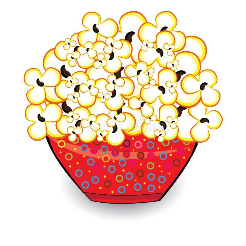 Download Popcorn stock vector. Illustration of greasy, corn, salt - 25563821