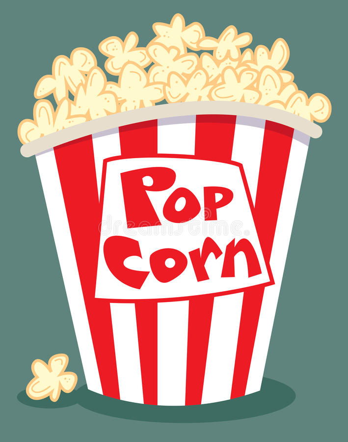 Popcorn vektor illustrationer