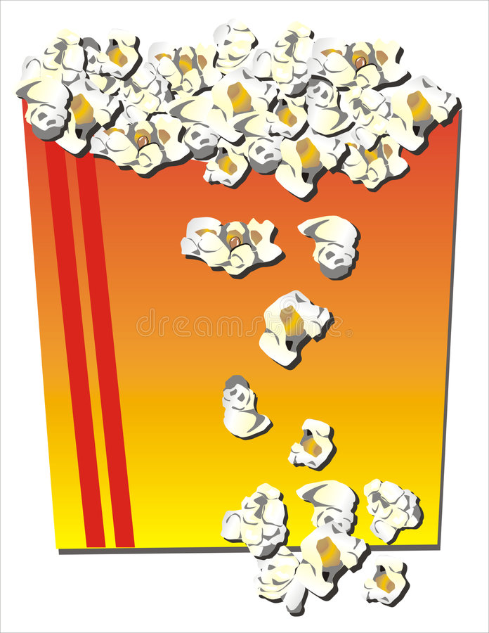 Download Popcorn stock illustration. Image of white, toffee, watch - 503707