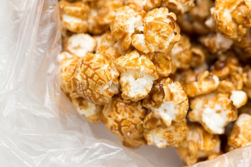 Popcorn as a background. macro royalty free stock photos