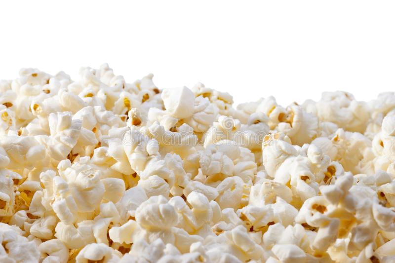 Popcorn Background. Popcorn with a white background