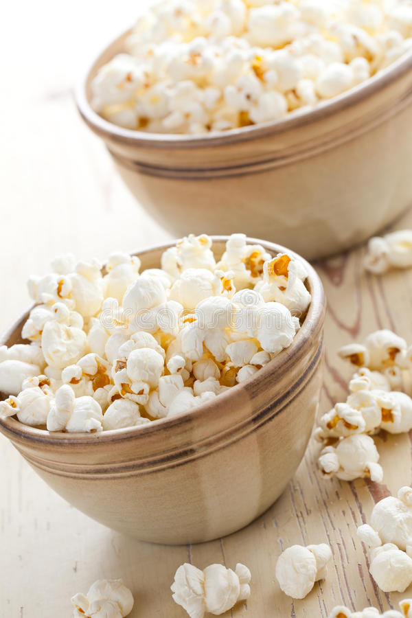 Popcorn in bowl royalty free stock photos