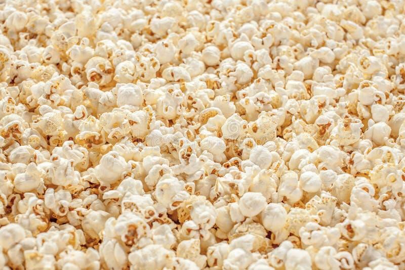 Popcorn bpopcorn bokeh achtergrond textureokeh achtergrondtextuur stock foto