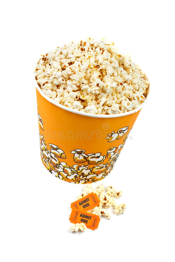 Download Popcorn bucket and tickets stock image. Image of delicious - 2638353