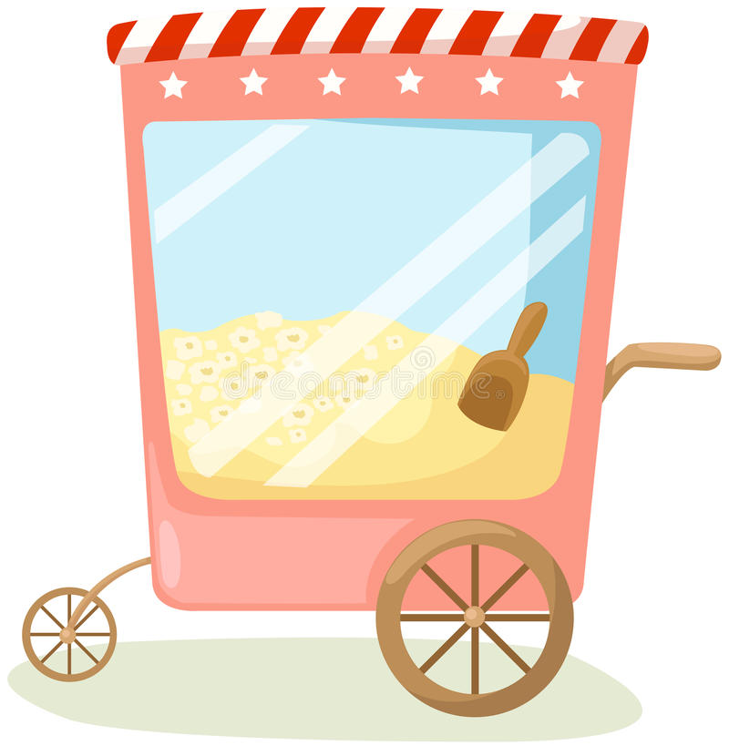 Popcorn cart vector illustration