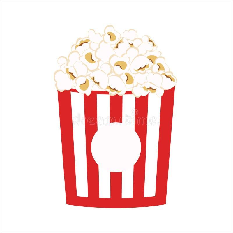 Popcorn clipart vector icon. Pop corn cartoon. stock illustration