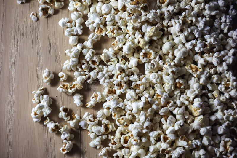 Popcorn close up textural background with contrast lighting.  royalty free stock images