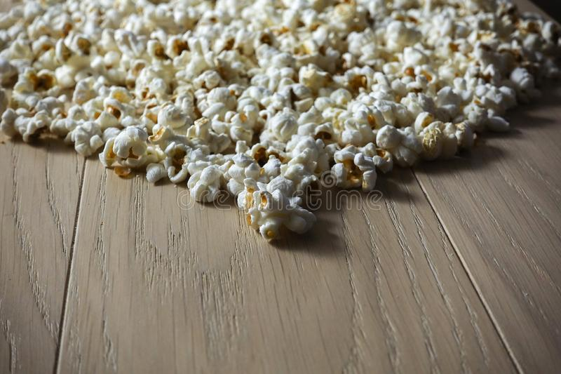 Popcorn close up textural background with contrast lighting.  royalty free stock photos