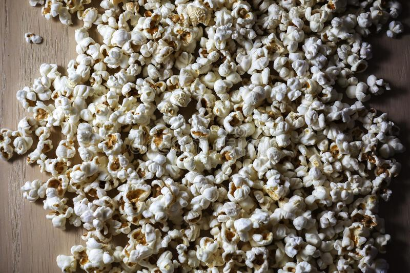 Popcorn close up textural background with contrast lighting.  stock photos