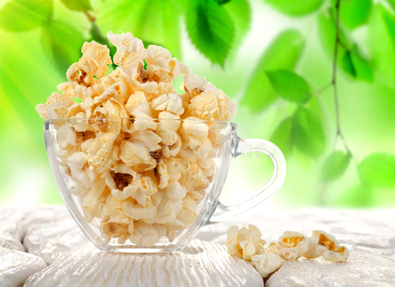 Download Popcorn in a cup stock image. Image of leaf, eating, freshness - 27912939