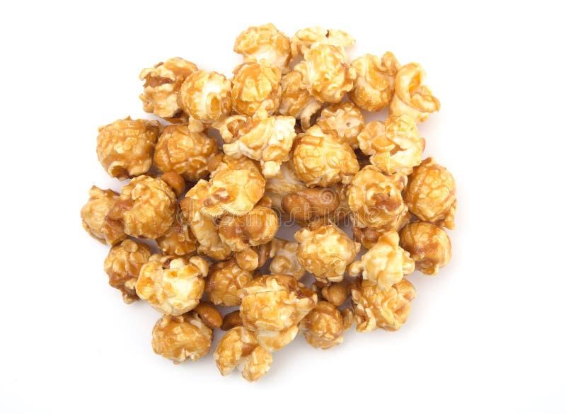 Popcorn dell'arachide e del caramello fotografia stock libera da diritti