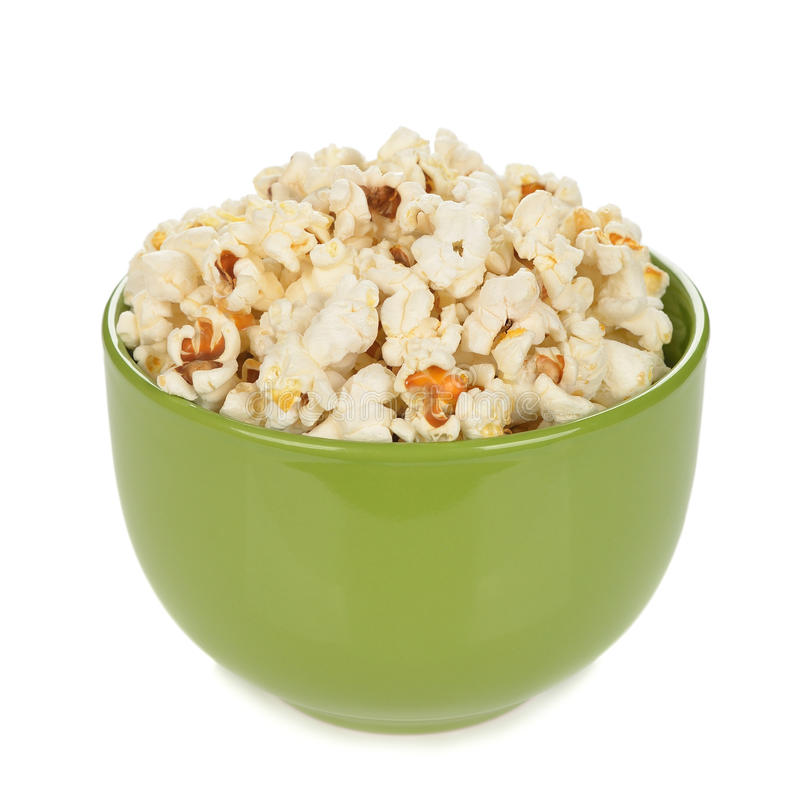 Popcorn in einer Schüssel lizenzfreies stockfoto
