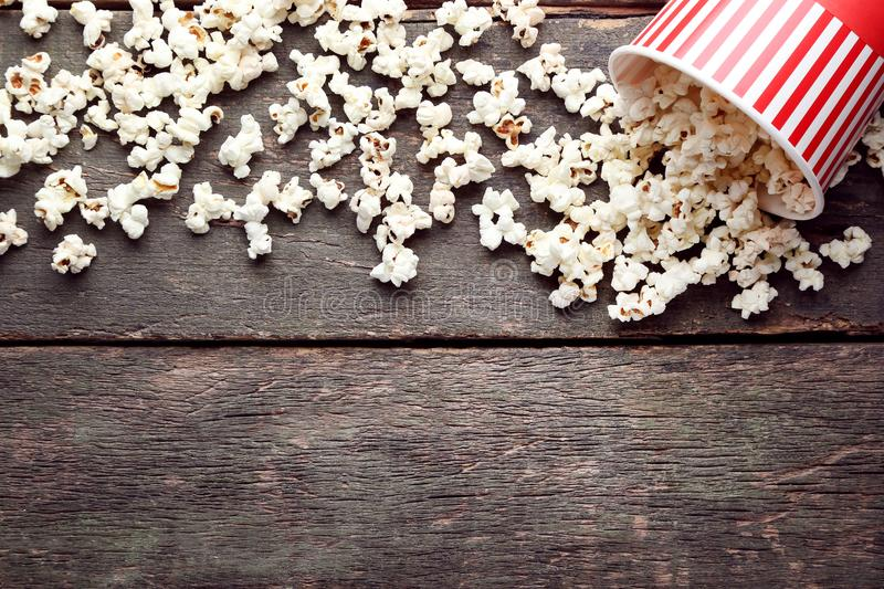 Popcorn in Emmer stock foto's