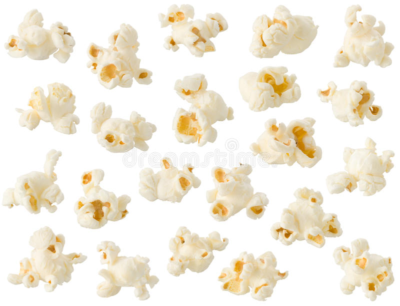 Popcorn getrennt stockfotos