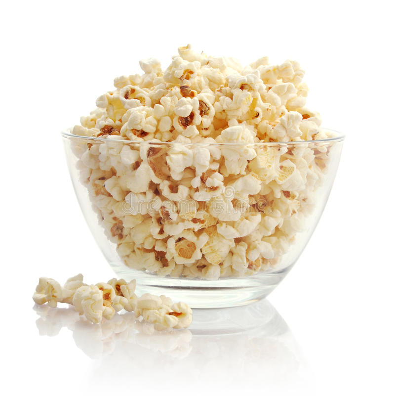 Download Popcorn In Glass Bowl Stock Photo - Image: 39082554