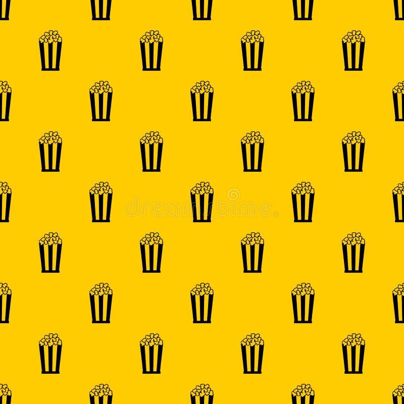 Popcorn i randig hinkmodellvektor stock illustrationer