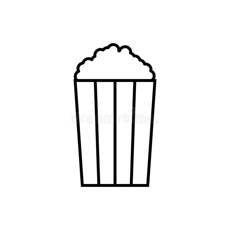 Popcorn Illustrationvektorsymbol, popcornsymbol stock illustrationer