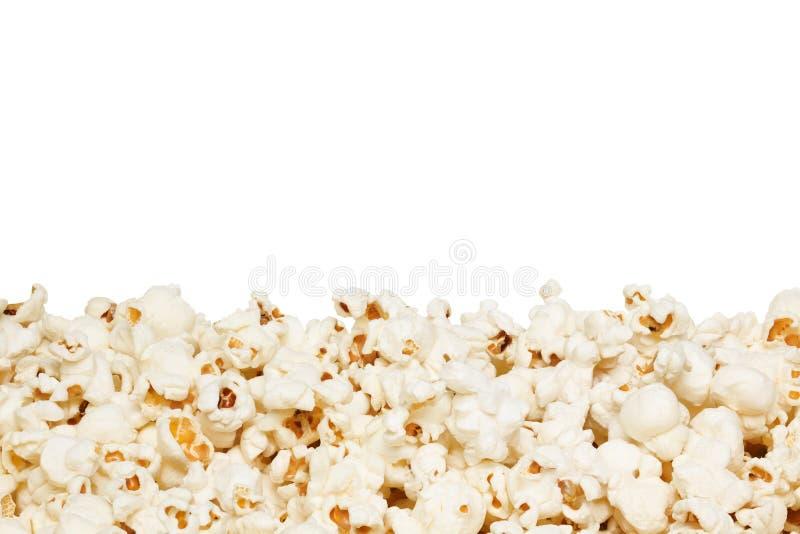 Popcorn, isolato sui precedenti bianchi fotografia stock